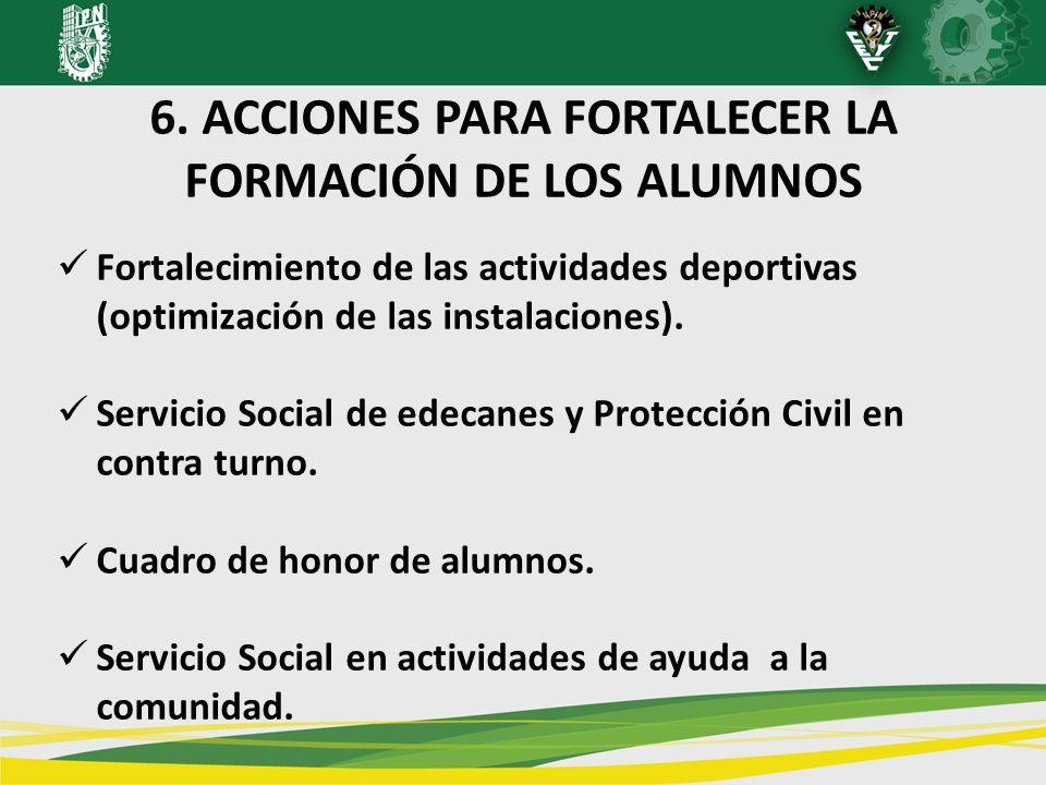 6. ACCIONES PARA FORTALECER LA FORMACIÓN DE LOS ALUMNOS