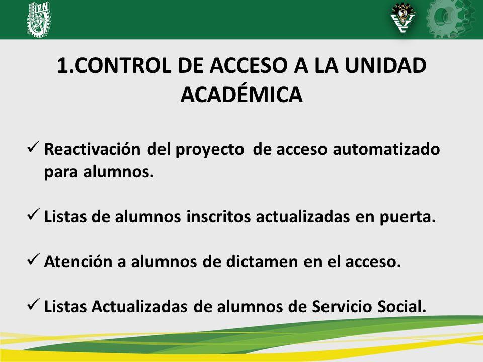 1.CONTROL DE ACCESO A LA UNIDAD ACADÉMICA