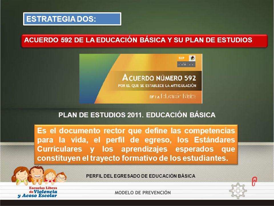 ESTRATEGIA DOS: ACUERDO 592 DE LA EDUCACIÓN BÁSICA Y SU PLAN DE ESTUDIOS. PLAN DE ESTUDIOS 2011. EDUCACIÓN BÁSICA.
