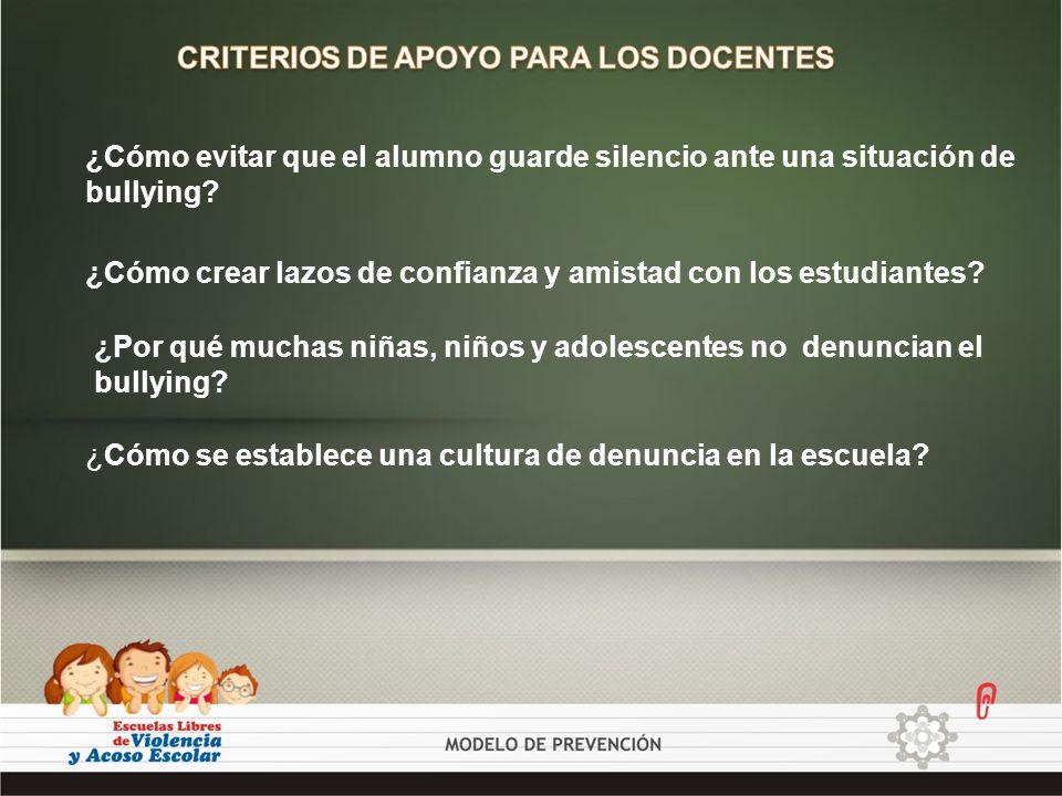 CRITERIOS DE APOYO PARA LOS DOCENTES