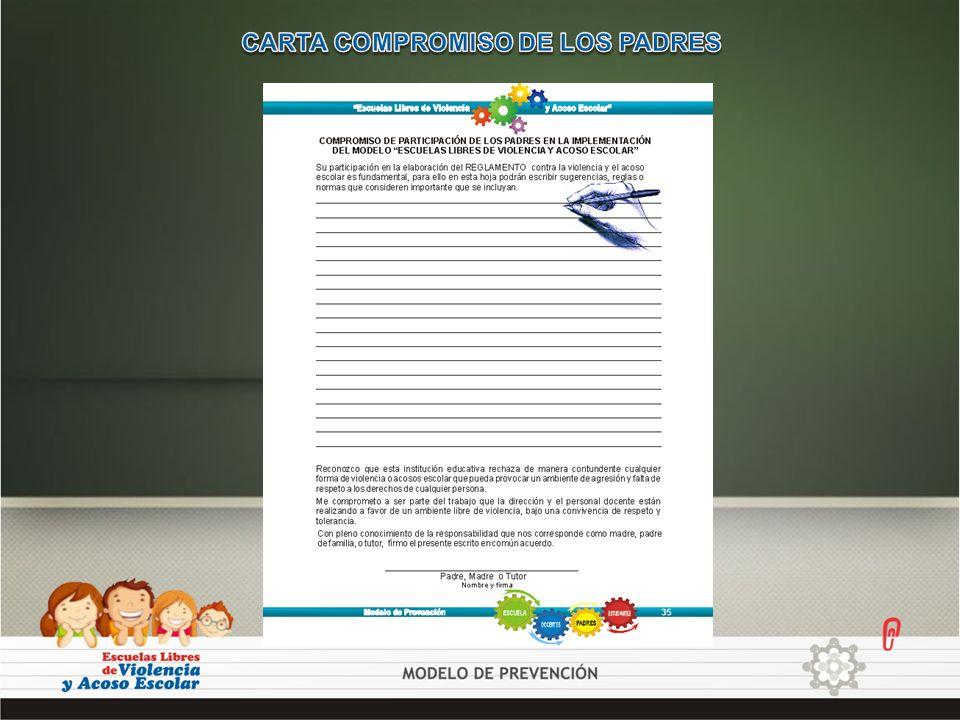 CARTA COMPROMISO DE LOS PADRES
