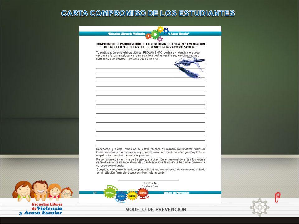 CARTA COMPROMISO DE LOS ESTUDIANTES