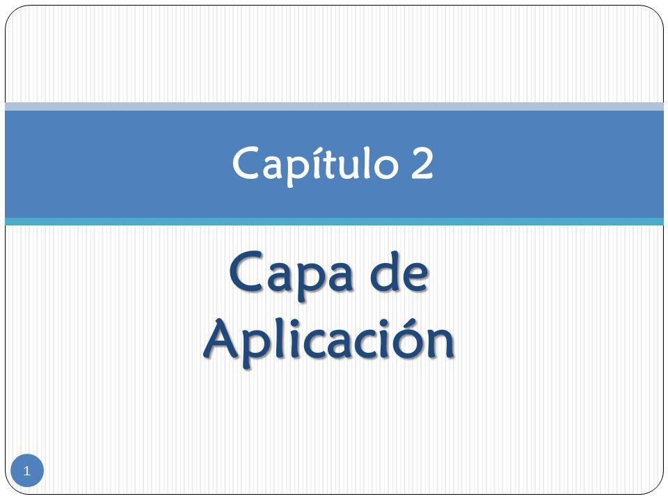 Capítulo 2 Capa de Aplicación