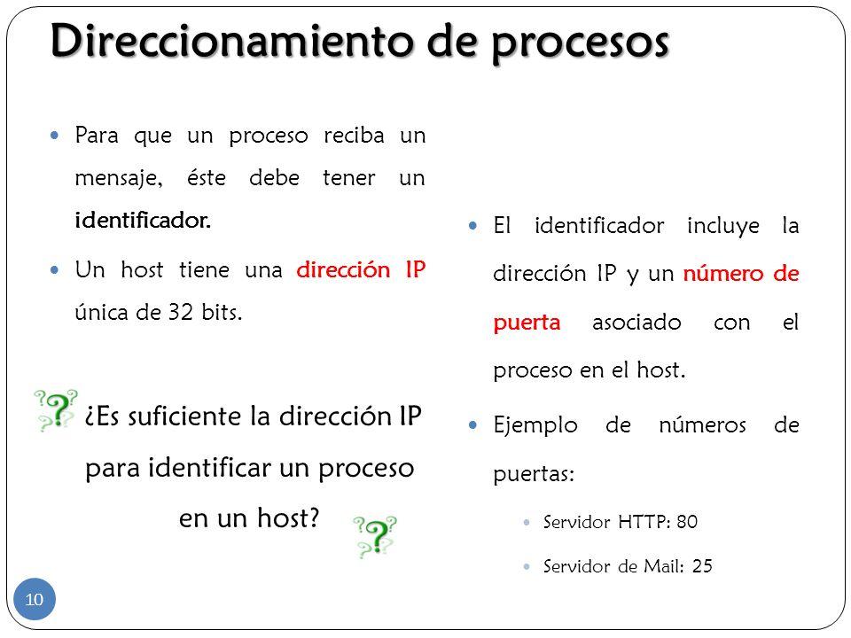 ¿Es suficiente la dirección IP para identificar un proceso en un host