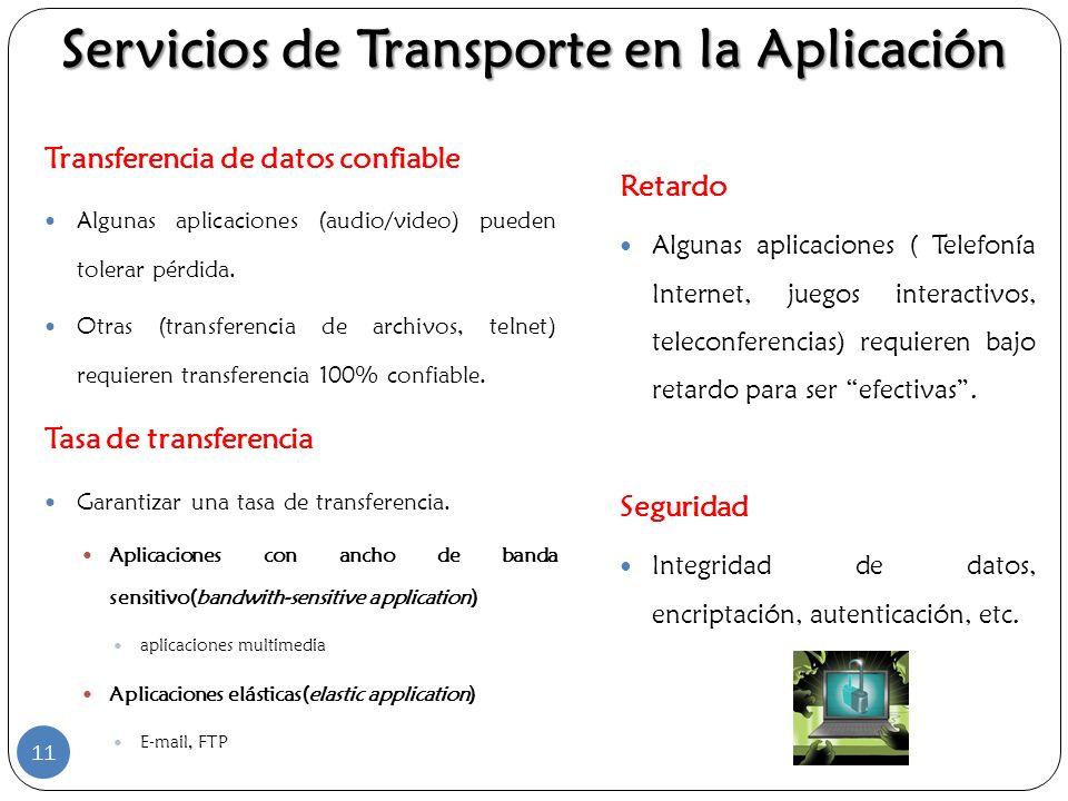 Servicios de Transporte en la Aplicación