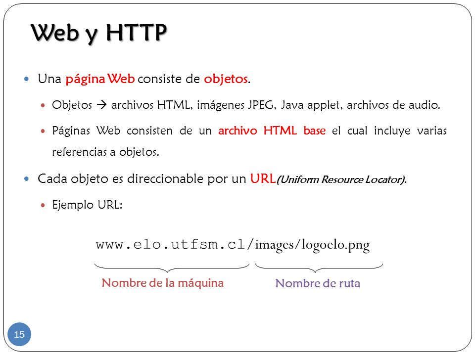 Web y HTTP www.elo.utfsm.cl/images/logoelo.png