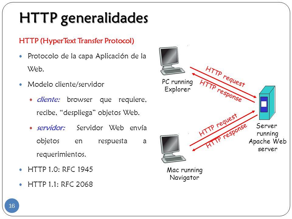 HTTP generalidades HTTP (HyperText Transfer Protocol)