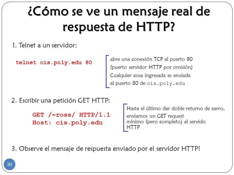 ¿Cómo se ve un mensaje real de respuesta de HTTP