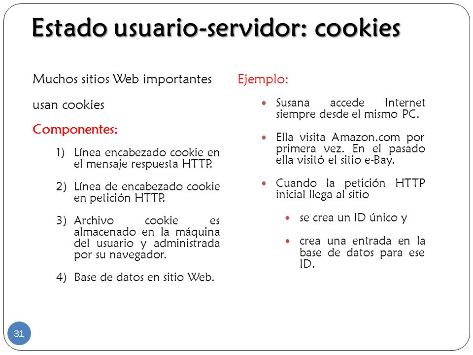 Estado usuario-servidor: cookies
