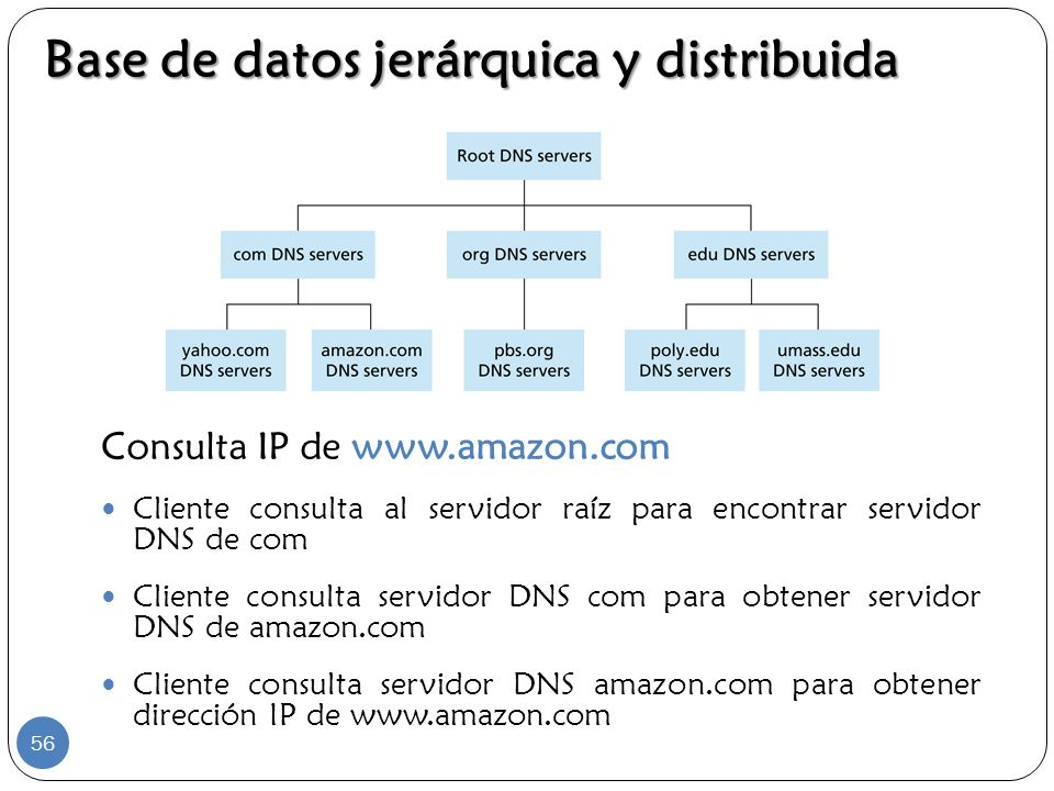 Base de datos jerárquica y distribuida