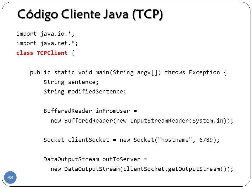 Código Cliente Java (TCP)