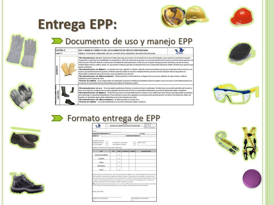 Entrega EPP: Documento de uso y manejo EPP Formato entrega de EPP