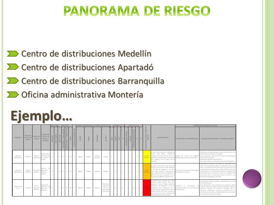 PANORAMA DE RIESGO Ejemplo…