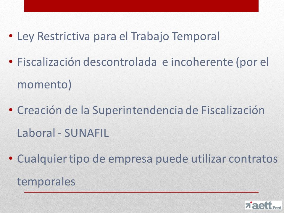 Ley Restrictiva para el Trabajo Temporal