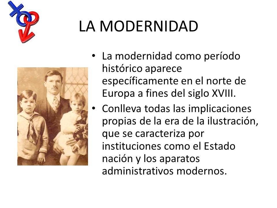 LA MODERNIDAD La modernidad como período histórico aparece específicamente en el norte de Europa a fines del siglo XVIII.