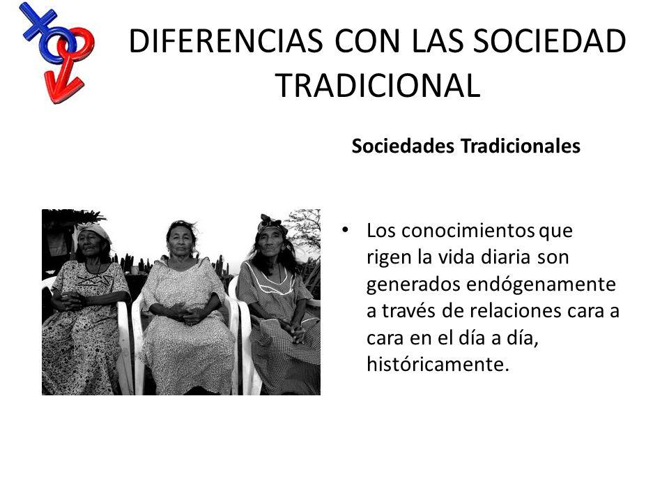 DIFERENCIAS CON LAS SOCIEDAD TRADICIONAL