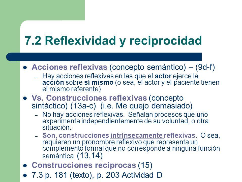 7.2 Reflexividad y reciprocidad