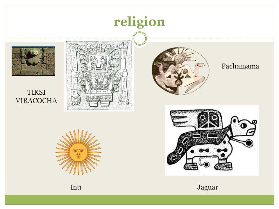 religion Pachamama TIKSI VIRACOCHA Inti Jaguar