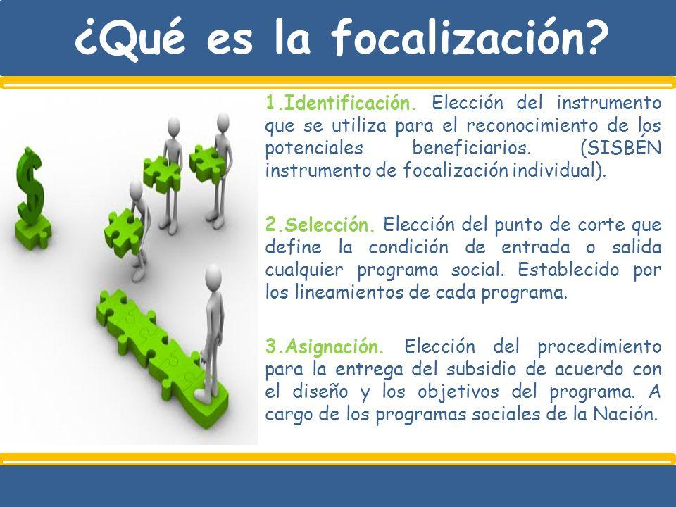 ¿Qué es la focalización