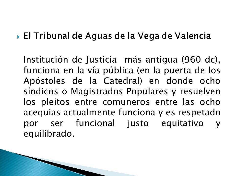 El Tribunal de Aguas de la Vega de Valencia