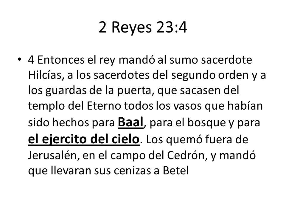 2 Reyes 23:4
