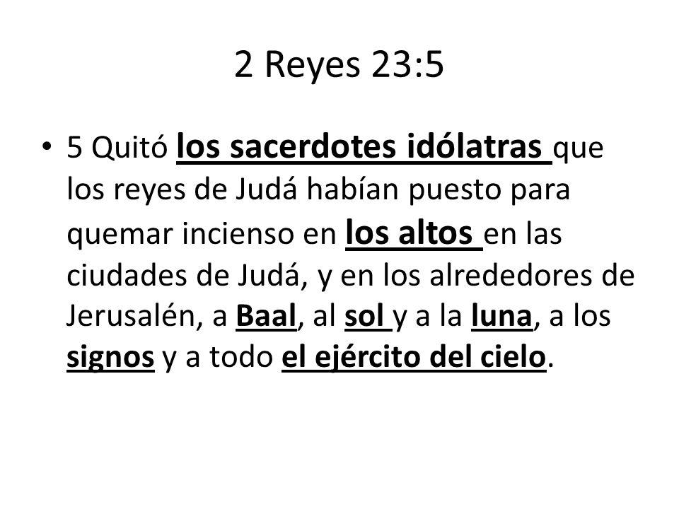 2 Reyes 23:5