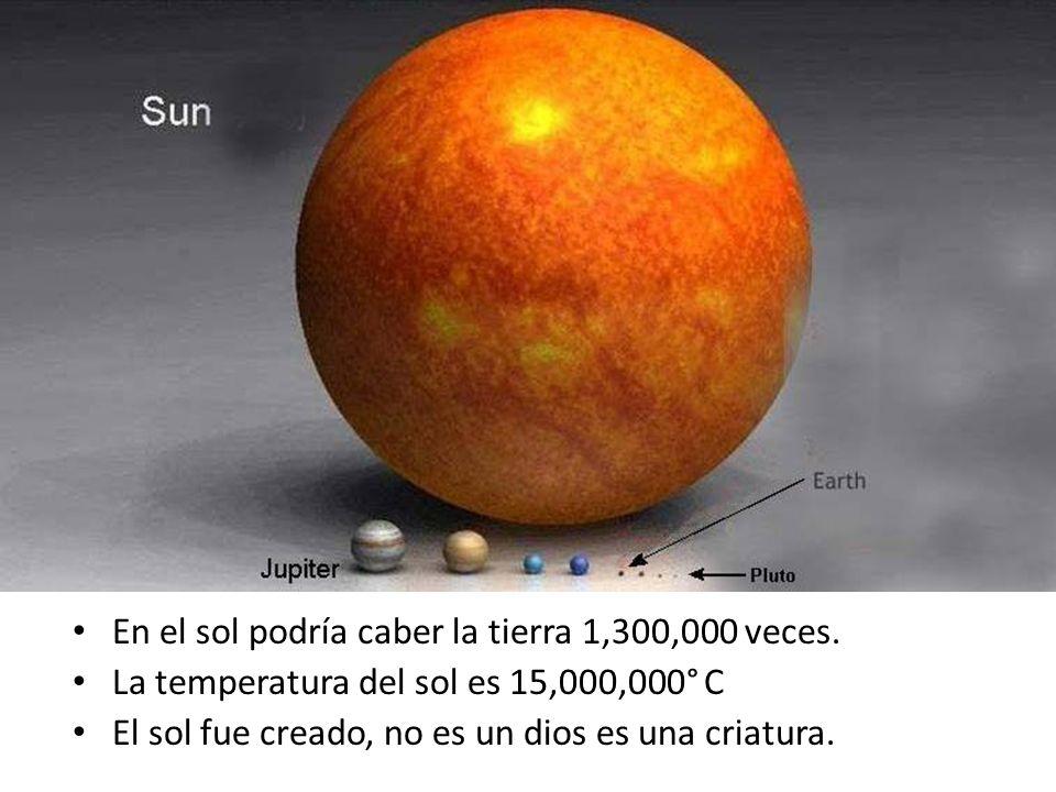 En el sol podría caber la tierra 1,300,000 veces.