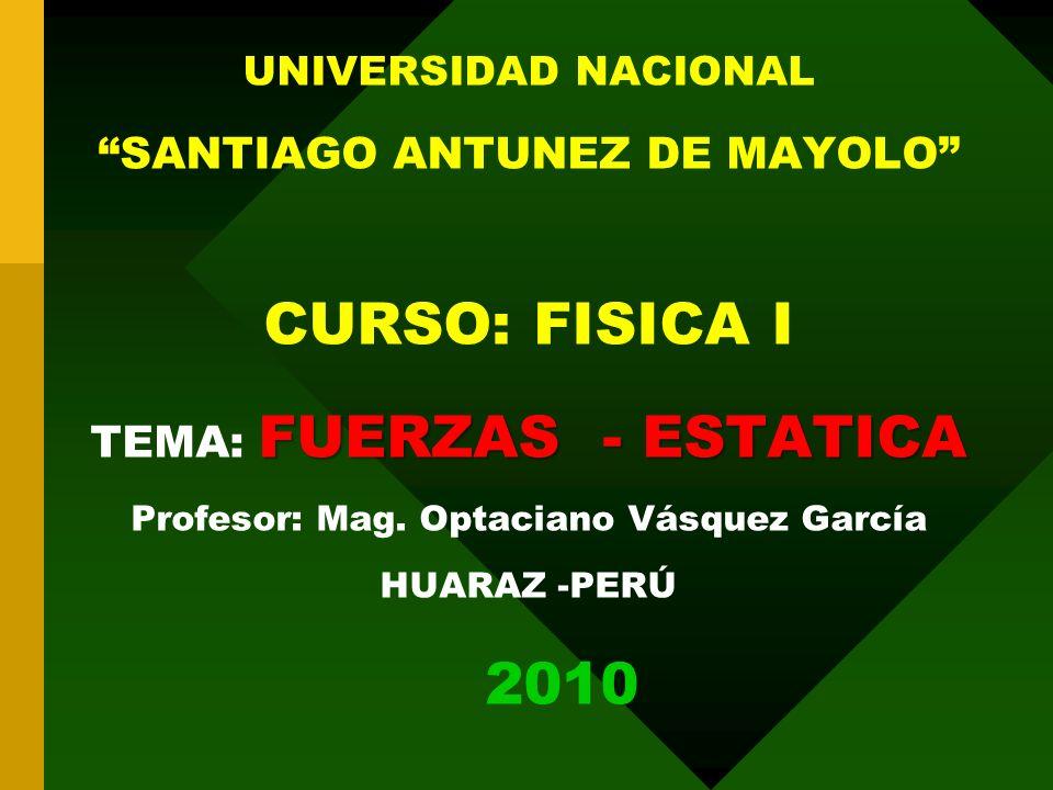 Profesor: Mag. Optaciano Vásquez García
