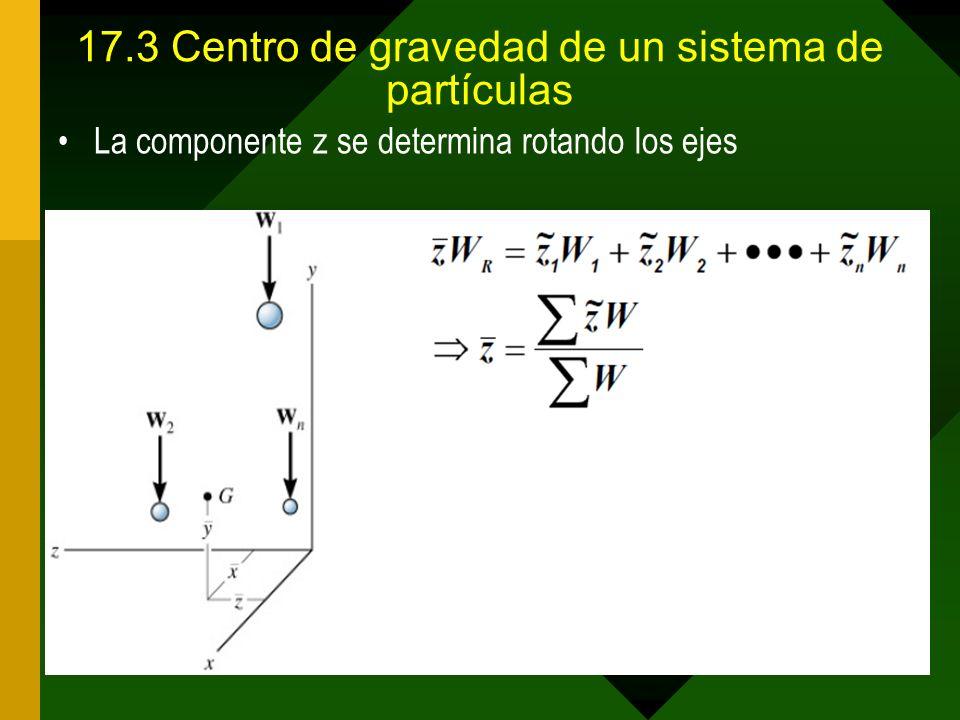 17.3 Centro de gravedad de un sistema de partículas