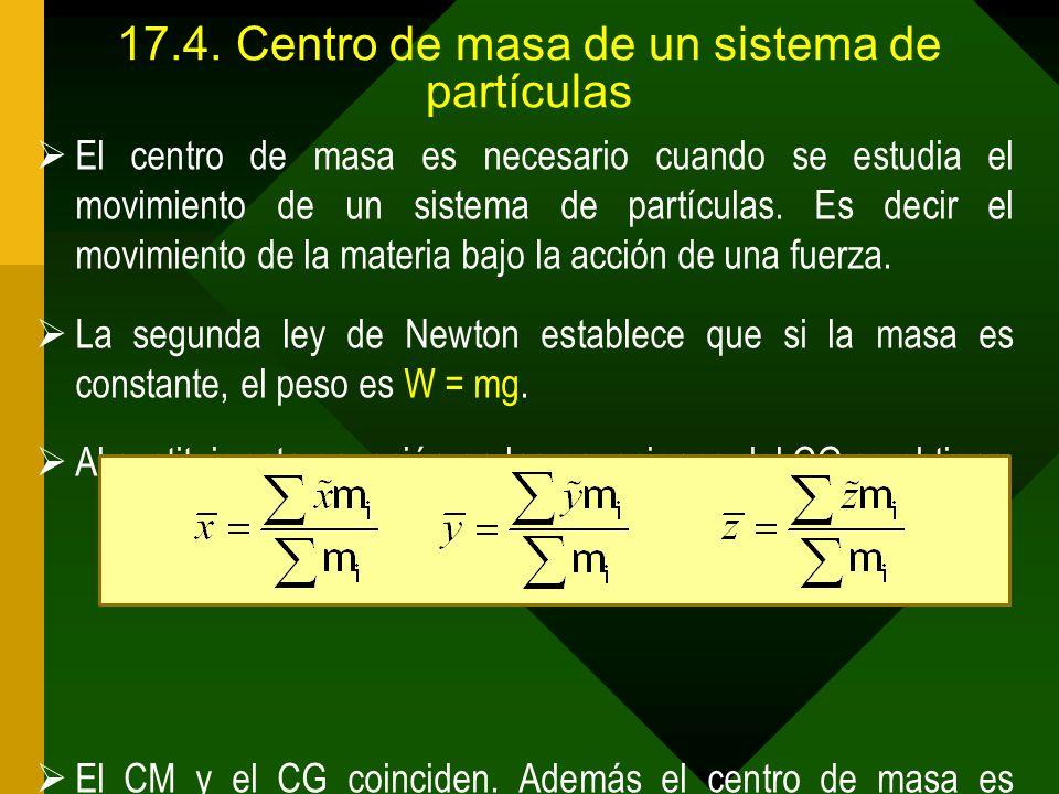 17.4. Centro de masa de un sistema de partículas