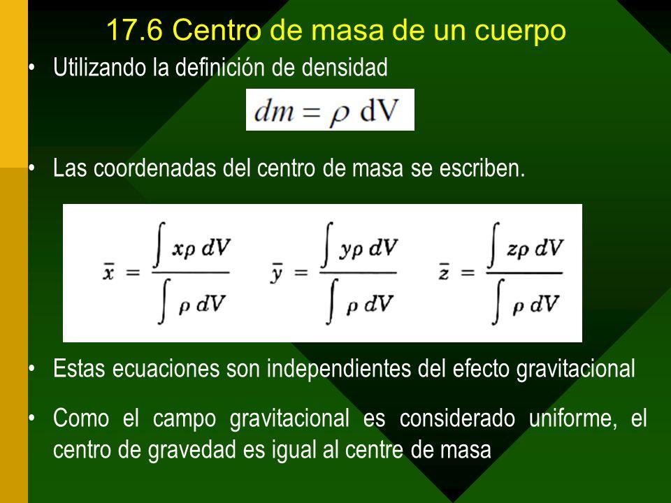 17.6 Centro de masa de un cuerpo