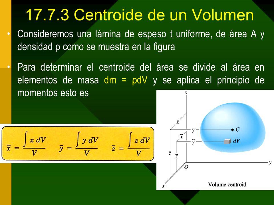 17.7.3 Centroide de un Volumen