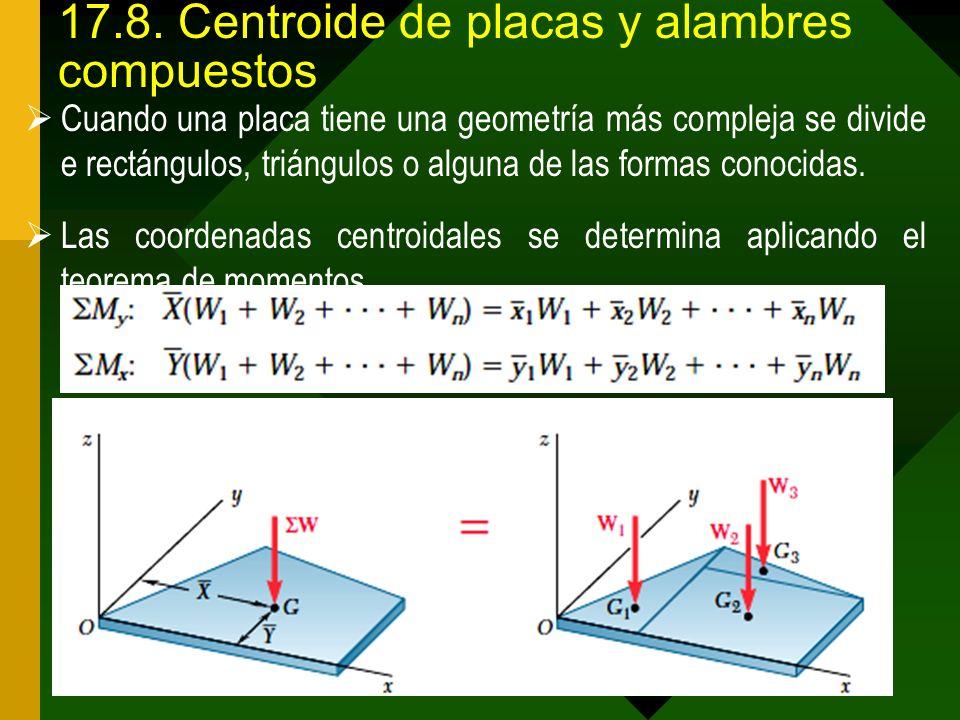 17.8. Centroide de placas y alambres compuestos