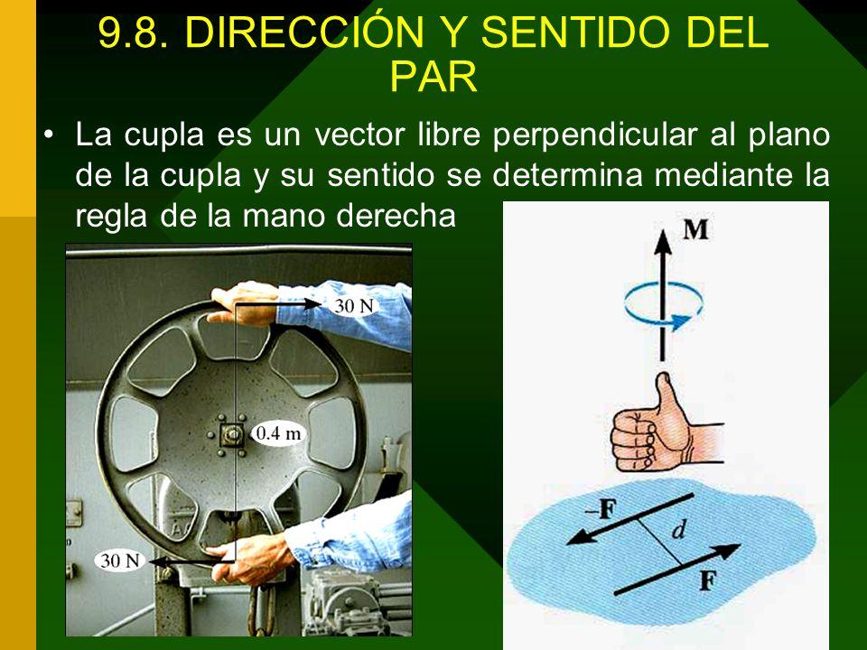 9.8. DIRECCIÓN Y SENTIDO DEL PAR