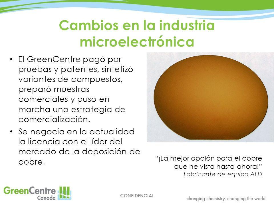 Cambios en la industria microelectrónica