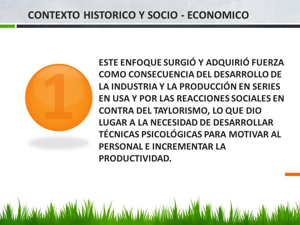 1 CONTEXTO HISTORICO Y SOCIO - ECONOMICO
