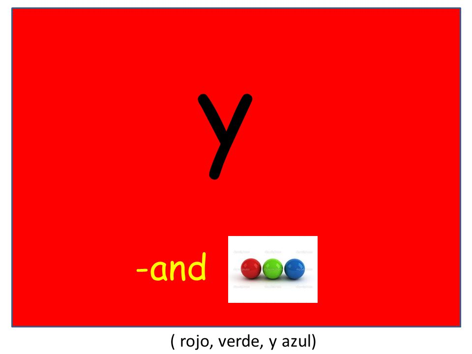 y -and ( rojo, verde, y azul)