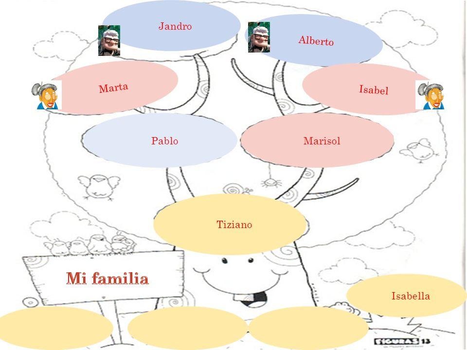 Jandro Alberto Marta Isabel Marisol Pablo Tiziano Mi familia Isabella