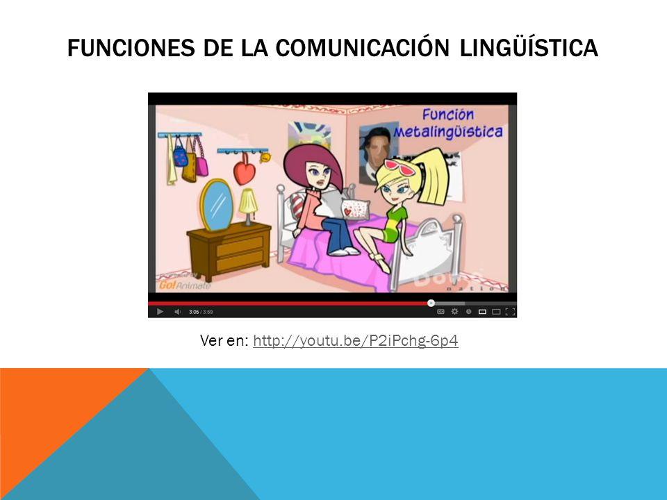 Funciones de la comunicación lingüística
