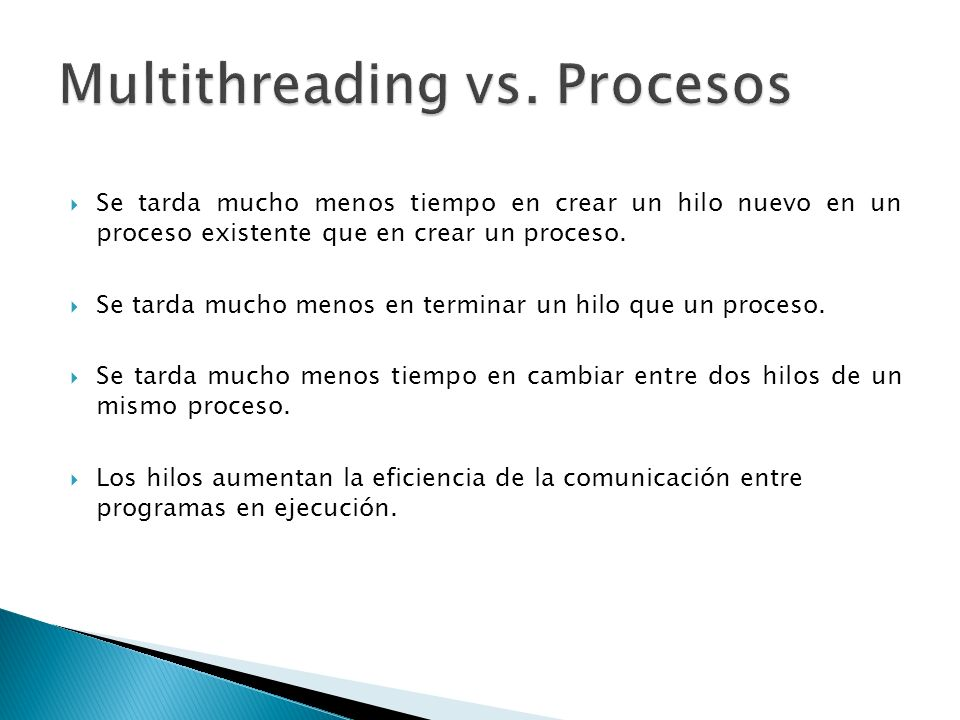 Multithreading vs. Procesos