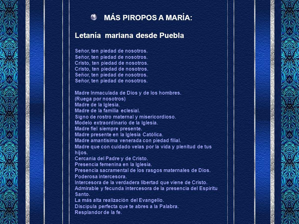 Letanía mariana desde Puebla