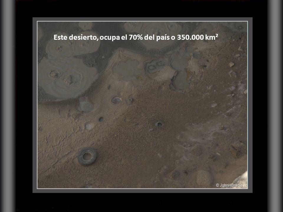 Este desierto, ocupa el 70% del país o 350.000 km²