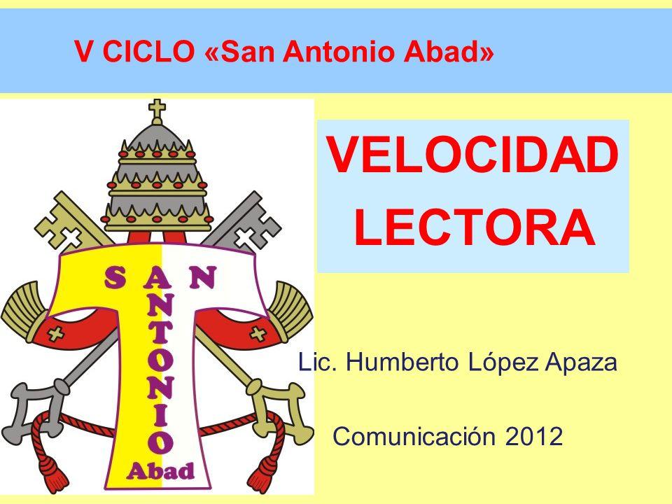 V CICLO «San Antonio Abad»