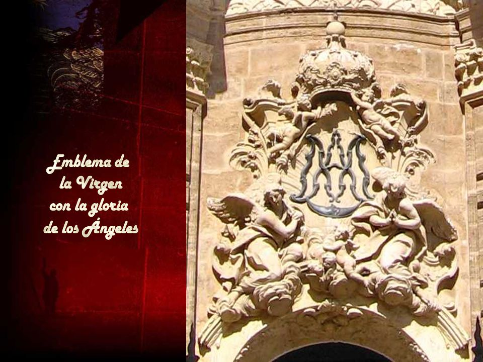 Emblema de la Virgen con la gloria de los Ángeles