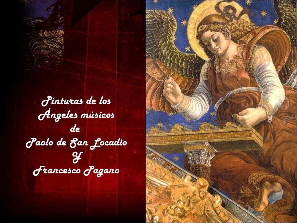 Pinturas de los Ángeles músicos de Paolo de San Locadio Y Francesco Pagano
