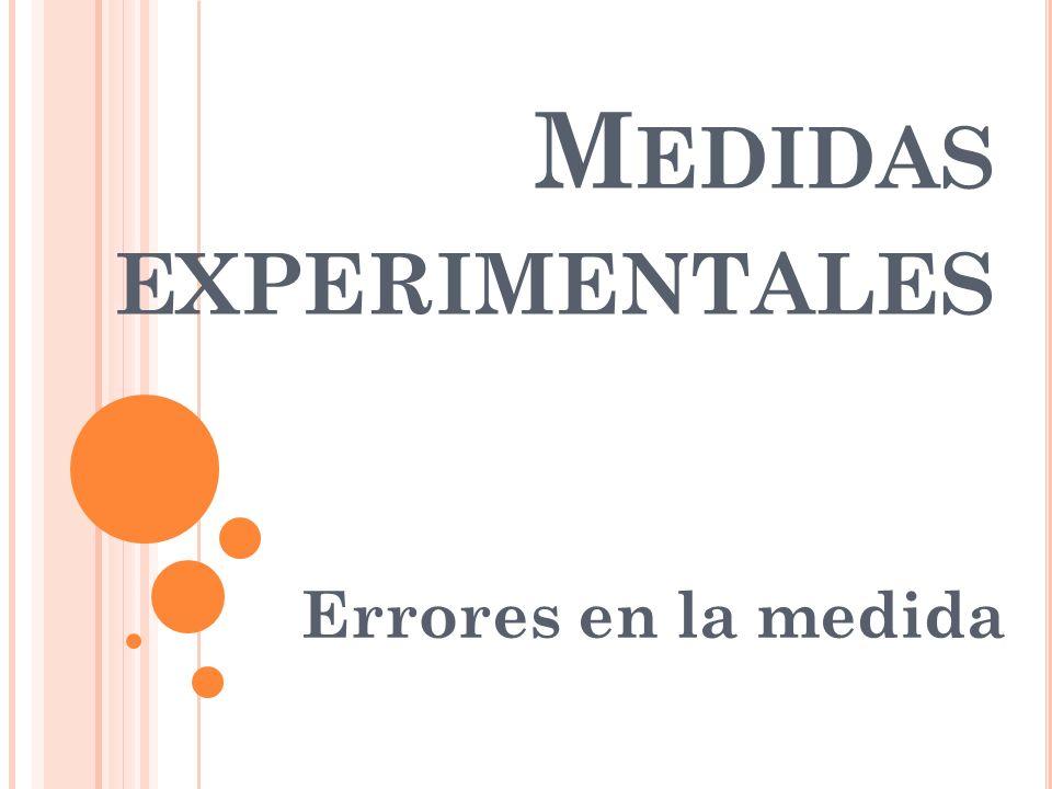 Medidas experimentales