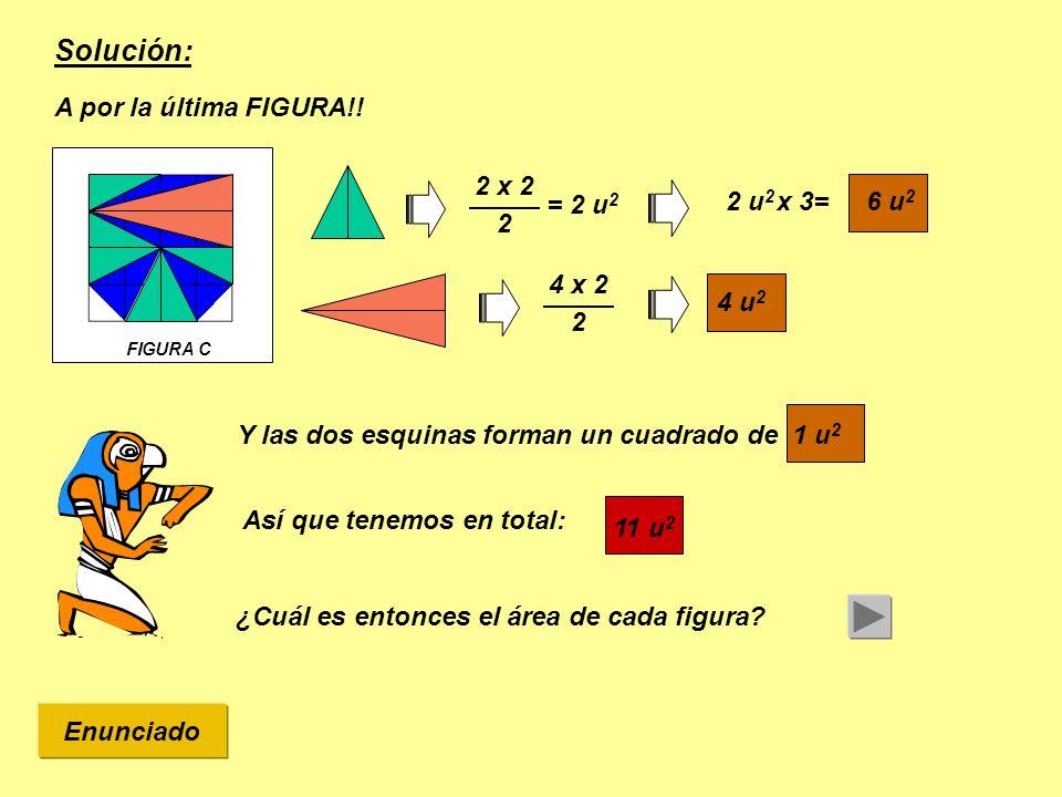 Solución: A por la última FIGURA!! 2 x 2 x 3= 6 u2 2 2 u2 = 2 u2 4 x 2