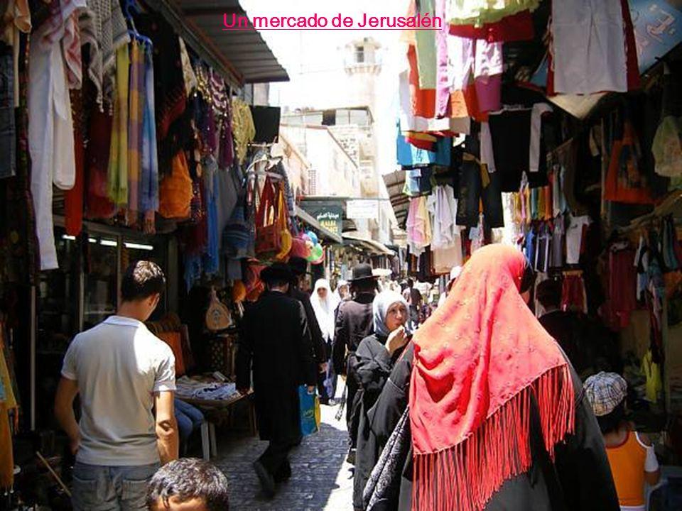 Un mercado de Jerusalén
