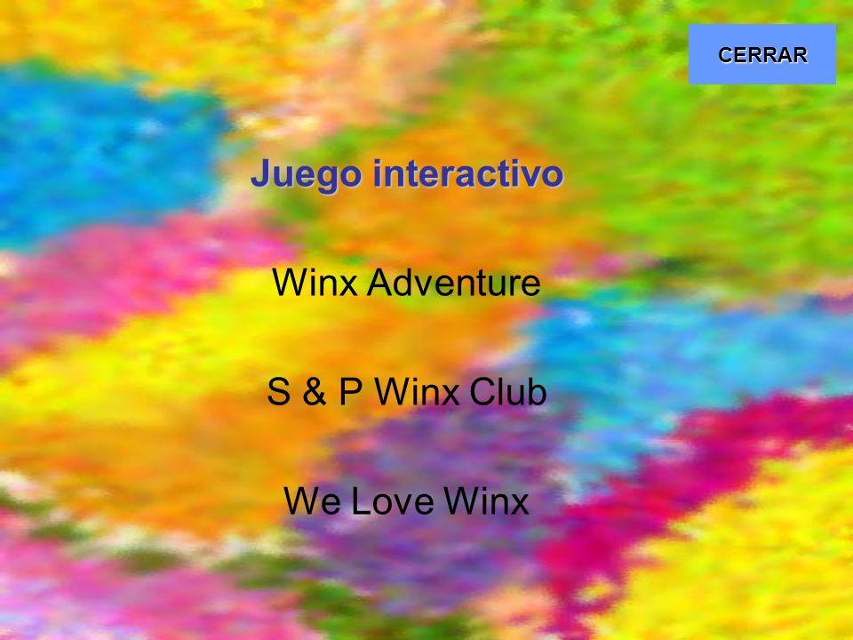 CERRAR Juego interactivo Winx Adventure S & P Winx Club We Love Winx