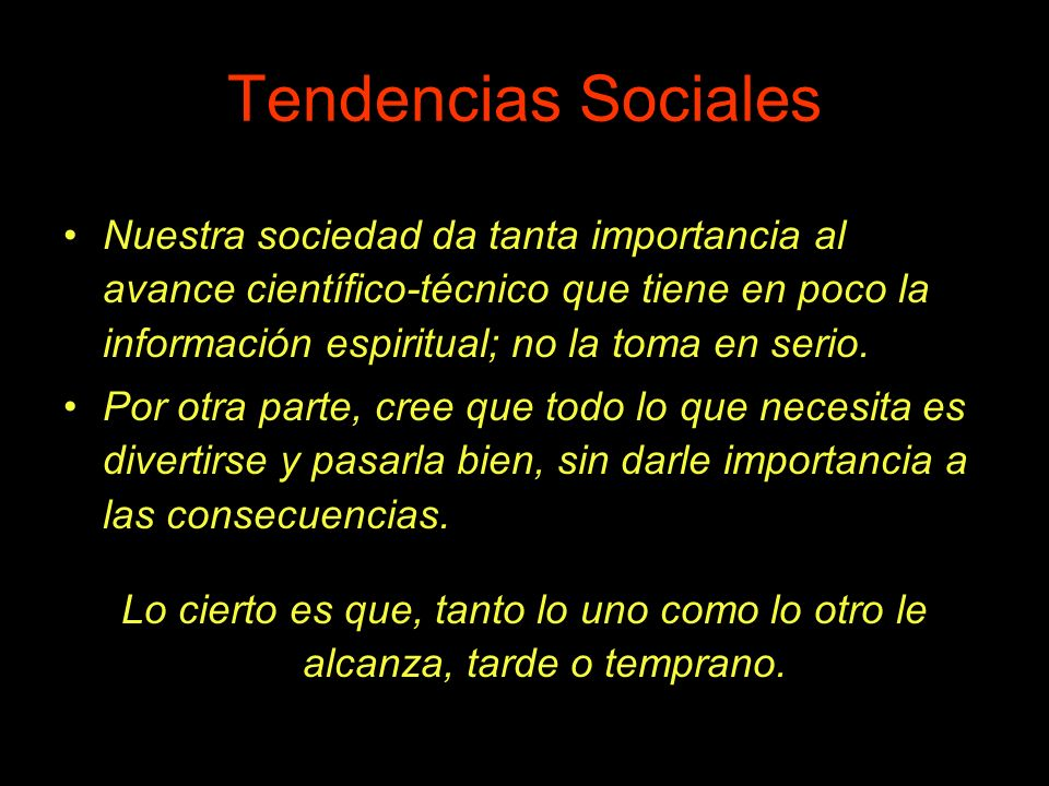 Tendencias Sociales